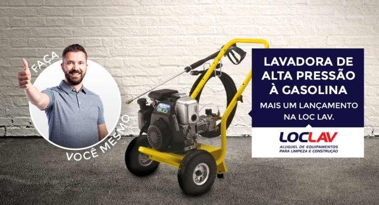 NOVA LAVADORA DE ALTA PRESSÃO À GASOLINA