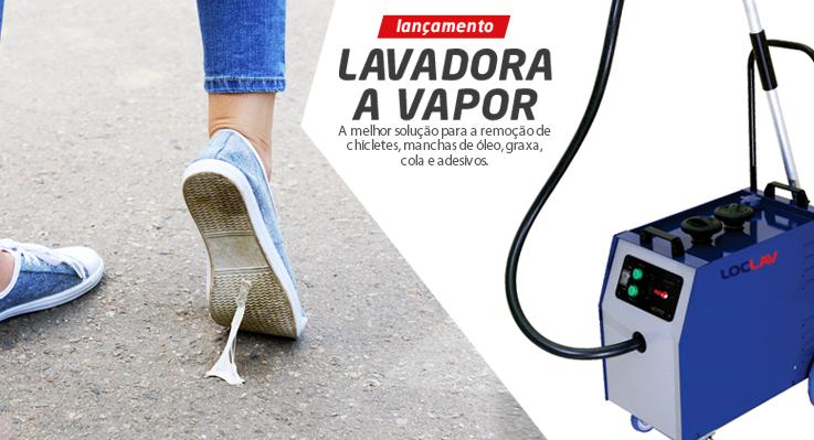 Nova Máquina LAVADORA A VAPOR LOC LAV elimina diversos tipos de sujeira.