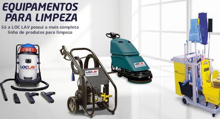 Alugue os equipamentos para a limpeza do seu negócio na LOC LAV