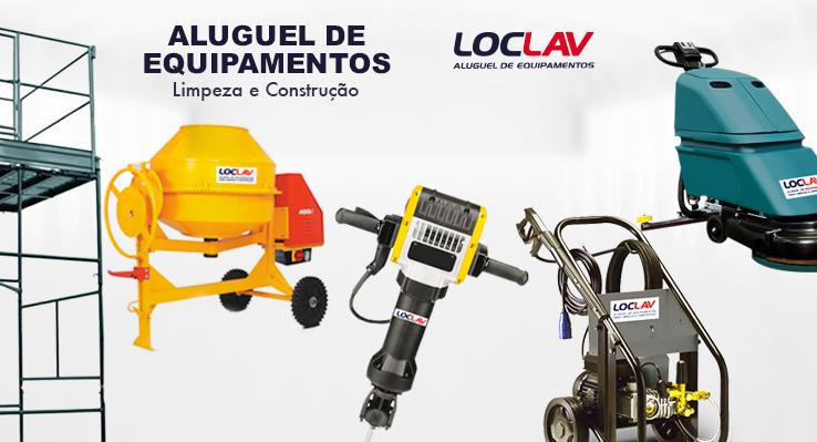 Aluguel de equipamentos para construção e limpeza
