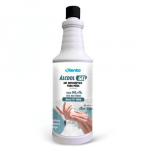 Álcool gel antisséptico para as maos