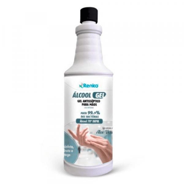 Álcool gel antisséptico para as maos