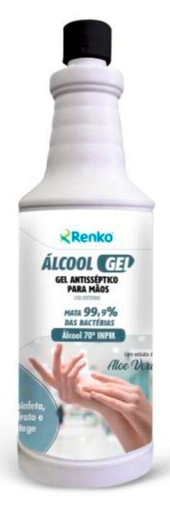 Álcool gel antisséptico para as mãos
